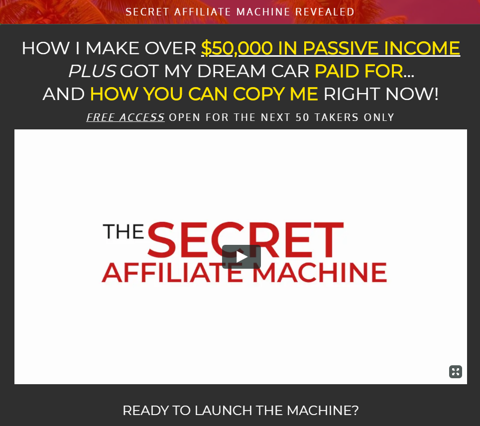 Free Secret Affiliate Machine Funnel: Here's How The SAM Funnel Works